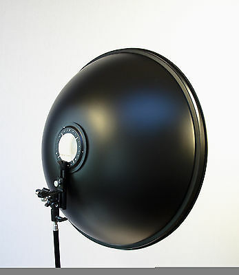 "Studiohut 27.5"" Beauty Dish Silver Reflector with Speedlight Flash Bracket Mount"