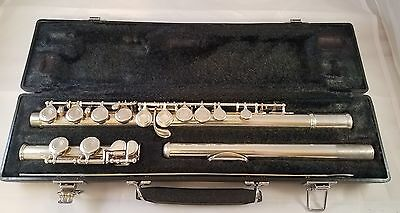 Yamaha 225SII Vintage Flute with Hard Case Silver Plate