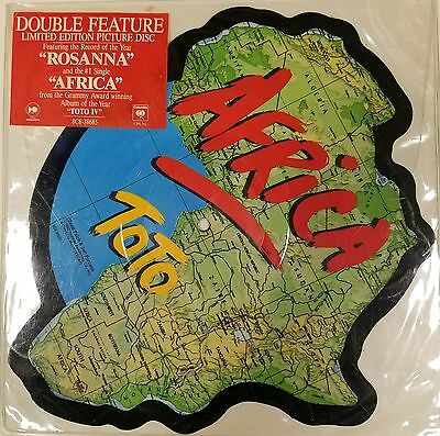"""Picture Disc """"toto"""" Vinyl """"shaped Disc"""" Africa/rosanna  Sealed Mint..."""