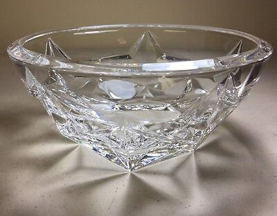 Tiffany & Co. Etched Crystal Bowl Star Design