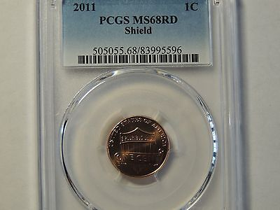 2011 Lincoln Shield Cent Penny PCGS MS 68 RD