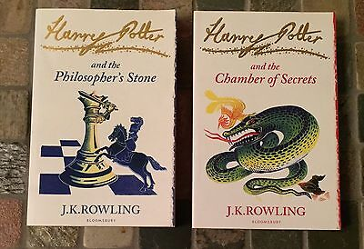 Harry Potter Paperback Signature Edition Book Set Lot 1 & 2 Philosopher Stone
