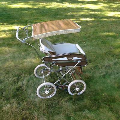 Vintage 1970s Italian Peg Perego Pram Baby Carriage / Stroller (Made in Italy)