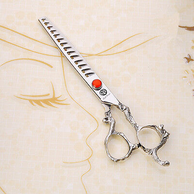 "7"" Pet Grooming Scissors Animal Thinning Shear Dog Fur Clipper Chunkers"