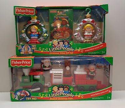 Fisher Price Little People CHRISTMAS MUSICAL TRAIN, ORNAMENTS & VIDEO NEW IN BOX