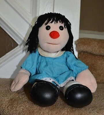 "Vtg Big Comfy Couch Molly Doll 16"" Plush Doll In Blue Dress Commonwealth 1995"