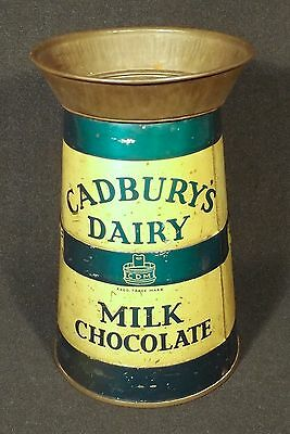 C1910/20 English Cadbury's Dairy Milk Chocolate Milk Can Novelty Chocolates Tin.