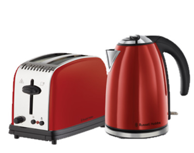 Russell Hobbs RHBP3 Paddington Breakfast Gift Pack Red Toaster and Kettle