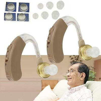 Best Digital Tone Hearing Aids Aid Behind The Ear Sound Amplifier Adjustable ED