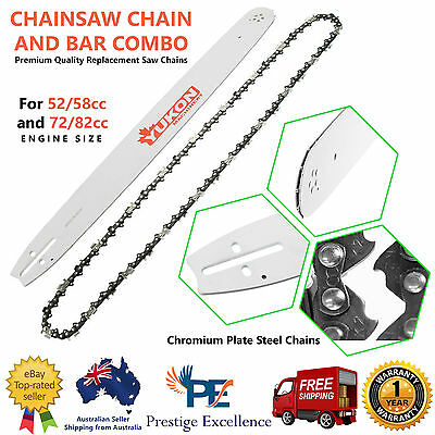 Yukon Chainsaw Bar and Chain Combo 18- 22 Inches Length 72-86 Drive Links Chains