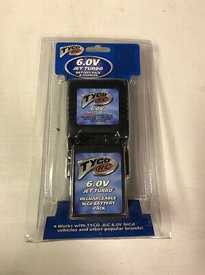 Tyco R/C 6.0V Jet Turbo Battery Pack and Charger New Sealed NiCd