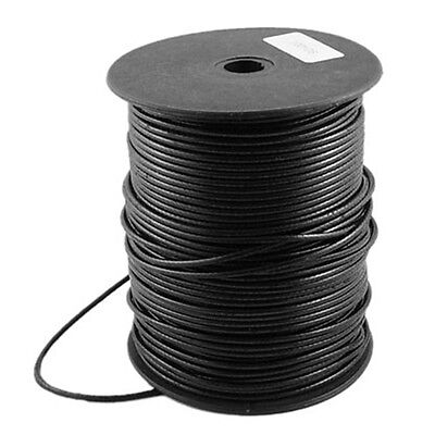 93yds/Roll Waxed Korean Polyester Cords Round Beading Threads Black String 2.3mm