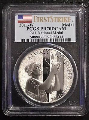 2011-W PCGS PR70 DCAM 9-11 National Medal FIRST STRIKE With Hope Is Recovery