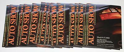 Lot of 18 Auto Show Minneapolis Minnesota MN 2002 Brochure Magazines 75 pages