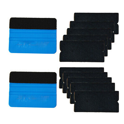 Vinyl Sheet Squeegee  with 5 Extra Felts Edge for Car Window Tint Install AUS