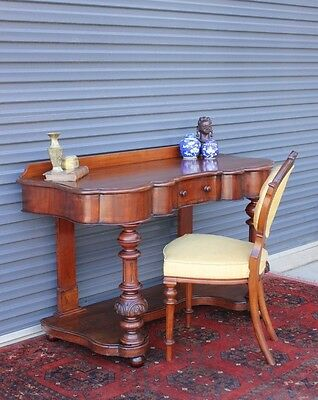 Victorian antique mahogany desk, console table.