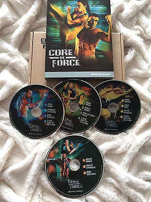 CORE DE FORCE MMA Workout Fitness Beachbody  BOX 4 DVD Set ALL Guides Include