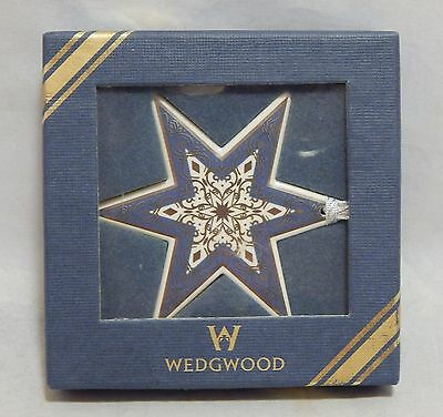 Wedgwood England Baroque Star Ornament Blue and Silver