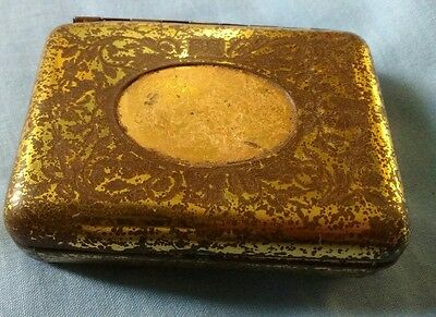Rare c1890 Jahncke's Patent Tin M & Co Tin for sewing needle? plate remaining!