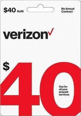 Verizon Wireless- $30 Refill,  Top-Up Air Time Card for Verizon Pre-Paid Service