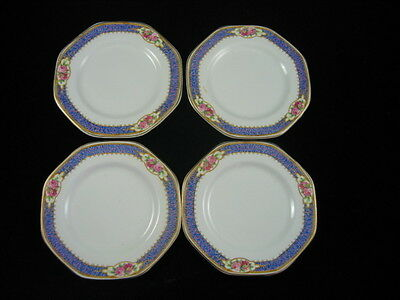 4 Rare Side Plates - 8 Sided Soho Pottery England