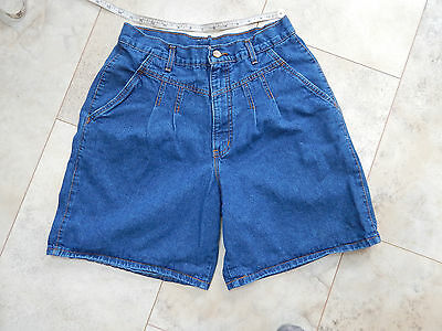 womens shorts vtg 80's High waist denim Chic pleated mom made USA junior sz 16