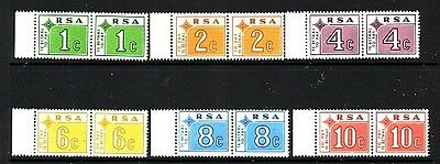 SOUTH AFRICA --Postage Due....  1972  set in pairs mint