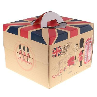 10pcs British Flag Cupcake Boxes with Handle Wedding Birthday Party Gift Favors