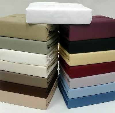 """Olympic Queen Size 1000 TC Egyptian Cotton 12""""Deep 4 PC Bed Sheet Set All Color"""