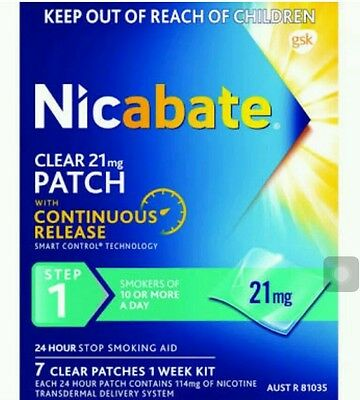 4 Boxes Of Nicabate Step 1 Clear Patches 21 Mg