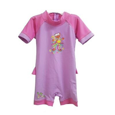 Bright Bots - Size 1 - Swimwear All In One Short Sleeve Girl - Hula Mouse - P...