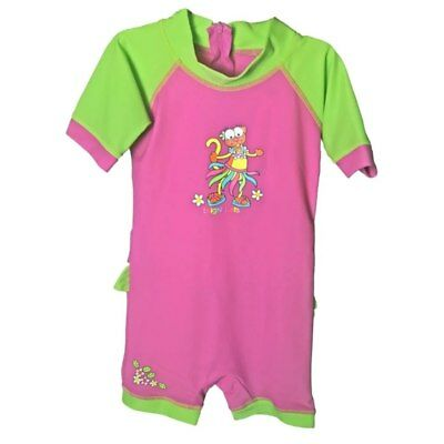 Bright Bots - Size 2  - Swimwear All In One Short Sleeve Girl - Hula Mouse - ...