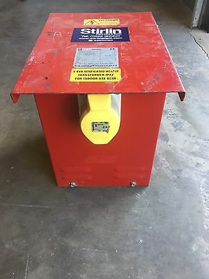 heater Transformer 3KVA Continuous  110V 32A Steel Case