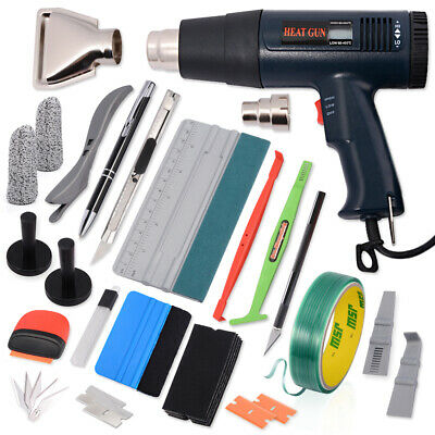 Pro Window Tint Film Install or Removal Tools Kit Squeegee 220V Heat Gun AU SHIP