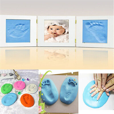 Air Drying Soft Clay forBaby Handprint Footprint Casting fingerprint ink 7Colors