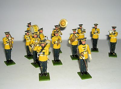 Britains U.S Soldiers Band in Yellow and Blue Tunics. N.B