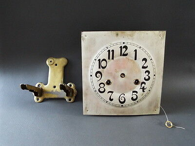 Vintage HAC wall clock movement dial & bracket for repair or parts