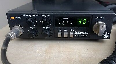 Radiomobile cb202 40 channel UK fm cb radio