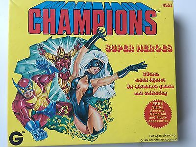 Champions Super Heroes 25mm Metal Miniatures 1984 Grenadier Models #4001