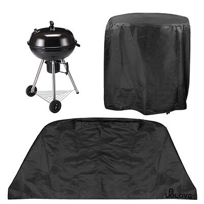 Large Black Round Waterproof Outdoor Garden Kettle BBQ Chimney Grill UV Cover