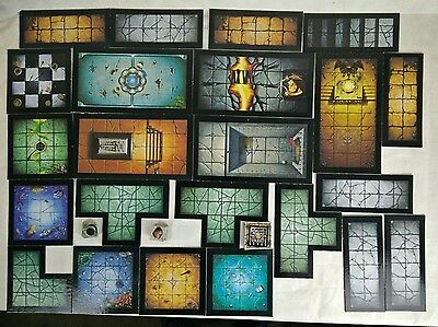 Warhammer Quest dungeon tiles - complete set with Scenery Tiles & Markers