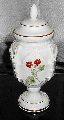"""Minton 'meadow' Tall Covered Urn Vase 8"""""""