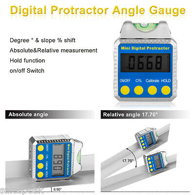 Digitale Mini Protractor Inclinomètre ±180° Angle Horizontal Biseau Inclinomètre