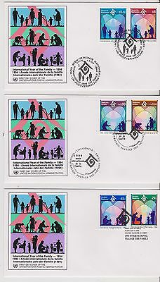 3 x FDC - United Nations - International Year of Family - 1994 -  (605) (X)