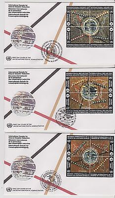 3 x FDC - United Nations - Internationa Decade for Natural Dist -  (608) (X)