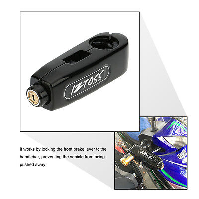 Anti-Theft Motorcycle Scooter Handlebar Throttle Grip Brake Lever Security Lock