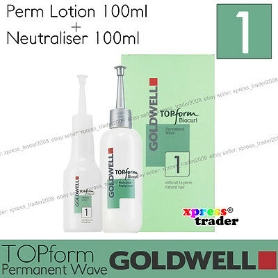 "Goldwell Topform Biocurl Permanent Lotion ""Type 1"" For normal to natural hair"