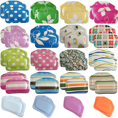 Luxury Comfort Cushioned Relaxing Bath Bathroom Pillow Spa Head Neck Rest