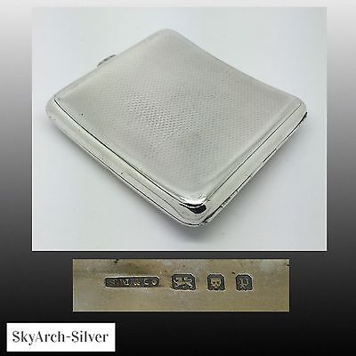 Solid Silver~Cigarette Case~Sampson Mordan~Hallmarked London 1930~112g~