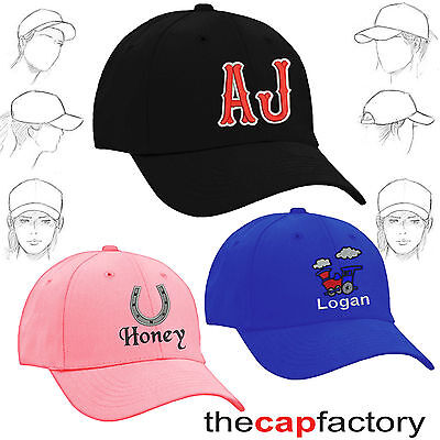 Personalised embroidered childrens baseball caps kids names